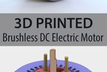 3d-printed brushless DC electric motor