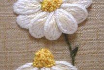Broderte blomster