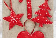 Christmas decorations, julsaker / Felted and sewn, filtade och sydda