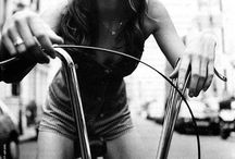 Bike fashion editorial woman