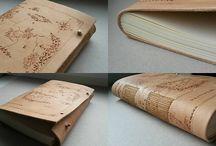 inspirace_knihy, sešity, papír, kůže