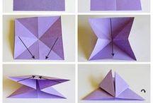 Origami + papier + carton