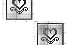 Filet crochet coasters / Filet crochet coasters, free patterns download.