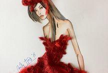 Billy Tjong Fashion Sketch / Fashion sketches