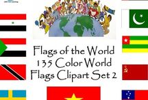Flags of the World Clip Art / Flags of the World Clip Art: 135 world flags. World Flags Clip Art for your Classroom's Olympic and Patriotic themes!