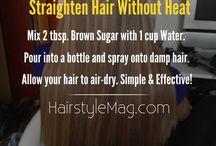 hair straightener recipe