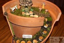 Fairy Gardens / Making use of broken pots