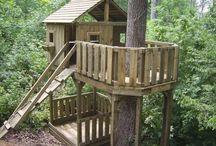 Maisons dans les arbres pour enfant