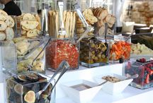Event Food Stations / Food station ideas for any type of cuisine: antipasto, veggies, salads, sushi, seafood, tacos, desserts, drinks