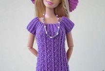 Barbie roupas de crochê