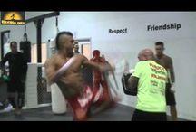sparring or karate