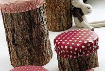 Baumstumpfhocker kinder garten