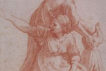 sanguine drawing / Sanguine ( red chalk) by my understanding Leonardo da Vinci was the one star using this medium on his sketch and Michelangelo soon used on his sketch as well ( 15 centuries)