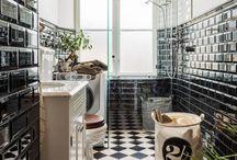 black and white / badezimmer und mehr
