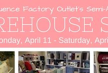 Factory Outlet Sales Event / Semi annual factory outlet warehouse and after market sale.  All items are priced to sell.