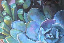 Succulents desert roses