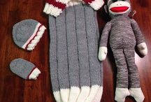 Work sock baby monkey snuggle