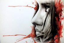 illustrations/dry brush .....
