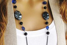 Long Black Beaded Necklace, Long Blue Beaded Necklace…