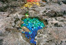 Beach Trash Art / Love these creative ways of focusing on the issue of beach trash.