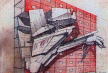 Paper Architecture / Drawn from imagination