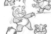 Cartoon panda bear
