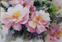 Adisorn Pornsirikarn flower watercolor
