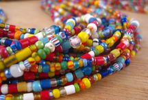A Rainbow of African Beads / This board is a showcase of the amazing mix of colors found in African Beads