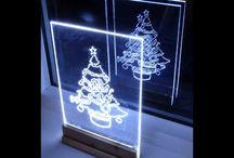 decora ión de cristal con led