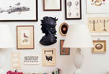 Art Walls / design ideas - how to arrange artwork on your wall -  more on  http://www.brightboldbeautiful.com/ / by Laura Trevey