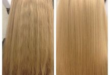 Brazilian keratin / Make your hair smooth, take out the freezy hair and make shine