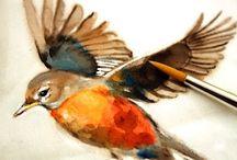 linnut / maalauksia linnuista