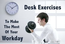 Desk-ercises / Exercises to keep the blood flowing at work!