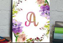 Floral Printable Monogram