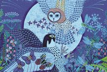 Art   animals -owls