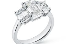 Three Stone RINGS / 3 stone rings or rings with side stones for the ladies who like a little more sparkle. Best Engagement Ring selection in Chicago.