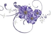 Purple Flowers / Purple flowers for scrapbooking
