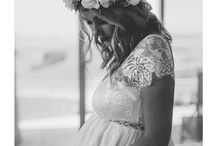 Brides with bumps! / Ideas: What to wear when you're a bride who's expecting on her big day...