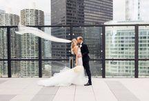 wedding photos / wedding photos from our black tie city rooftop wedding!