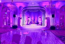 Event Production / Pictures of weddings and events which show off our lighting