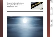 """Moonlight Sonata: Multi Levels - Covers / Cover sheets of piano sheet music of """"Moonlight Sonata"""" in multi levels arranged & edited by Mizue Murakami from Galaxy Music Notes."""