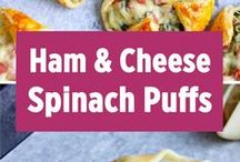 ham cheese spinish Puffs