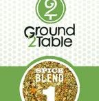 Ground 2 Table Organic Spice Blends / Our twelve organic spice blends are made without salt or sugar because we believe you should be in complete control over what goes in your body! Portioned so that you get only what you need for your meal - fresh spices & no waste!