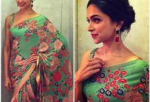 The Sari. / Beautiful Saris, worn by graceful women in captivating photos.