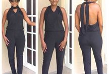Fashion (made by Lynette Alexis) / Black necktie jumpsuit. #jumpsuit #fashion #designer #lynettealexis #backless #pants #fashionBlogger #sewingInfluencer #ootd #dresses #sewingblog #sewwithlynette