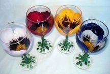 Peinture sur verres