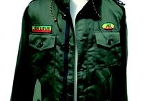 veste rasta jah army/jacket rasta jah army
