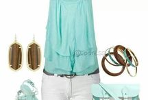 Summer Fashion / Summer clothing ideas on how to mix and match.