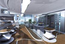 Futuristic Interiours / Home interious like from the future. Science Fiction inspired architecture.