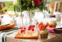 Handmade Rose Gold and Striped Kate Spade Bridal Shower Inspiration